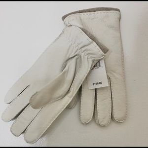 Saks Fifth Ave NEW Mens Leather & Cashmere Gloves